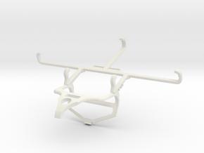 Controller mount for PS4 & T-Mobile REVVL 5G - Fro in White Natural Versatile Plastic