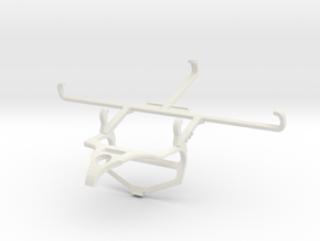 Controller mount for PS4 & Xiaomi Poco C3 - Front in White Natural Versatile Plastic
