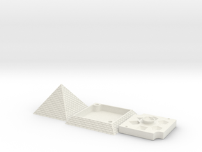 Pyramid Dice Tray Full in White Natural Versatile Plastic