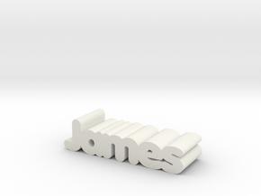 James in White Natural Versatile Plastic