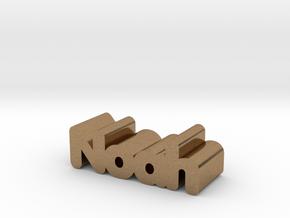 Noah in Natural Brass