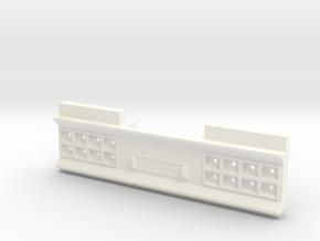 THM 01.4512 Danish rear bumper in White Processed Versatile Plastic