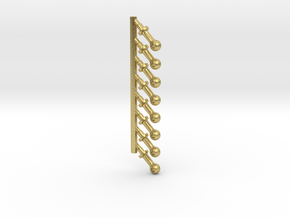G SCALE MED BOILER STANCHIONS 8PK in Natural Brass