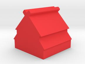 Viking Longhouse Meeple v1 in Red Processed Versatile Plastic