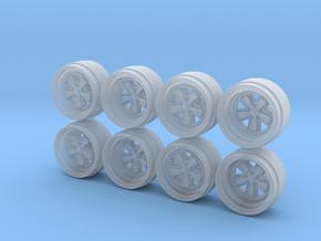 RF FUCHs 9-0 Hot Wheels Rims in Smooth Fine Detail Plastic