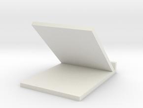 Simple phone holder in White Natural Versatile Plastic: Medium