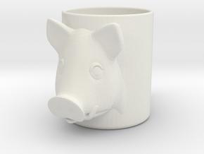 Pork Beer Glass in White Natural Versatile Plastic