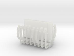 ZB (H0e) - Bremsenleitungen einzeln für 4 Personen in Frosted Ultra Detail