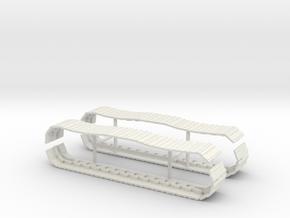 CAT Excavator Tracks 1/64 in White Natural Versatile Plastic