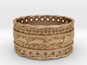 Dolphin Bangle in Natural Bronze