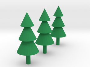Trees Miniatures ( Set of 3 ) in Green Strong & Flexible Polished