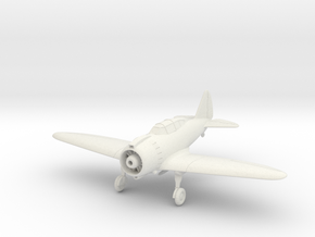 Reggiane Re.2000 Wheels Down 1:144 and 1:100 in White Natural Versatile Plastic: 1:100