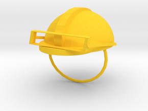 SafeHat in Yellow Processed Versatile Plastic: 1:8