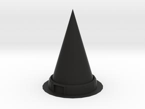 WitchHat in Black Natural Versatile Plastic: Medium