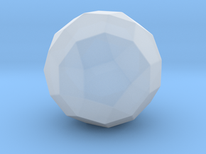 Rhombicosidodecahedron - 10mm - Rounded V1 in Smooth Fine Detail Plastic