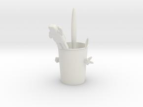 A cool cup in White Natural Versatile Plastic: Medium