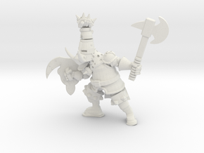 Boar Knight in White Natural Versatile Plastic