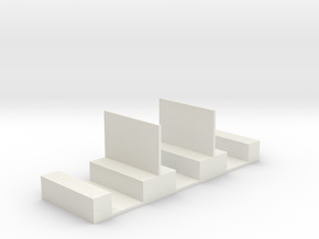 Simple Interior for Hornby 4-wheel coach in White Natural Versatile Plastic