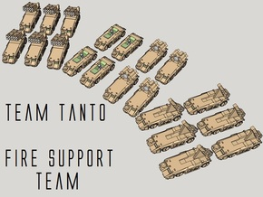 """Team Tanto"" 3mm Fire Support Team (20pcs) in Smooth Fine Detail Plastic"