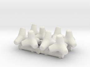 Concrete Tetrapod (x8) 1/87 in White Natural Versatile Plastic
