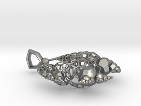 Kleinian Wireframe v1 in Natural Silver