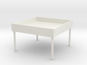 Storage chair in White Natural Versatile Plastic
