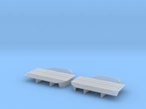 Autorack Trifold Door SOU C&O TRILEVEL in Smooth Fine Detail Plastic