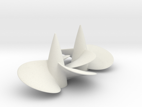 2 boat propellers d50 left and right hand in White Natural Versatile Plastic