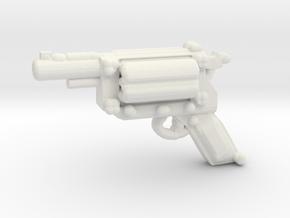 Revolver v1a in White Natural Versatile Plastic