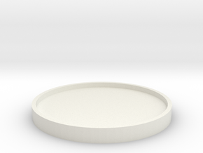 Collecting Coasters in White Natural Versatile Plastic: Extra Small