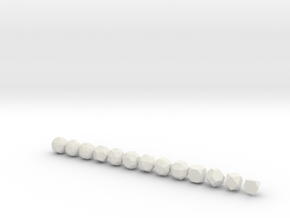 Archimedean Solids - 1 Inch - Rounded V1 in White Natural Versatile Plastic
