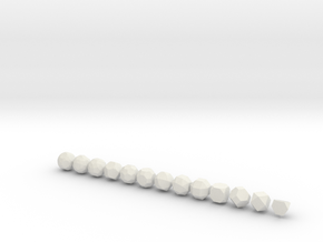 Archimedean Solids - 1 Inch - Rounded V2 in White Natural Versatile Plastic