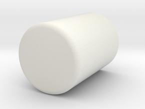 Pen Holder in White Natural Versatile Plastic: Small