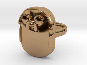Jake The Dog Ring (Medium) in Polished Brass