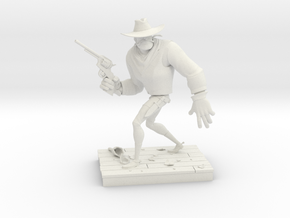 TheGunfighter (Small) in White Natural Versatile Plastic