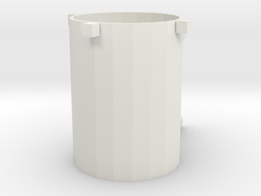 Toolbox Cup in White Natural Versatile Plastic