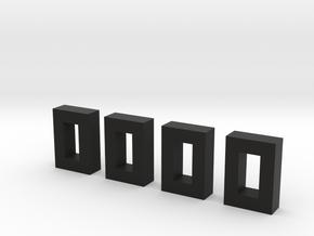 Tool box Buckles in Black Natural Versatile Plastic
