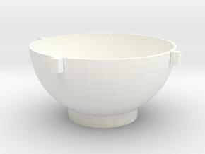 Toolbox bowl in White Processed Versatile Plastic