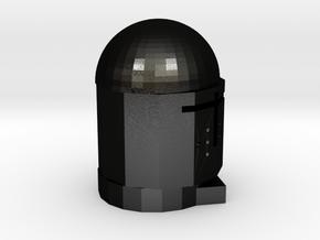 KnightHat in Matte Black Steel: Medium