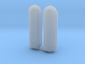 45ft Grain Silo (x2) 1/500 in Smooth Fine Detail Plastic