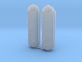 45ft Grain Silo (x2) 1/700 in Smooth Fine Detail Plastic