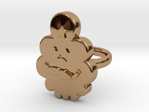 Lumpy Space Princess Ring (Small) in Polished Brass