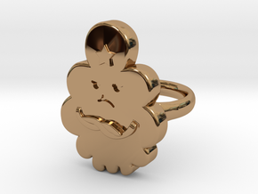Lumpy Space Princess Ring (Medium)  in Polished Brass