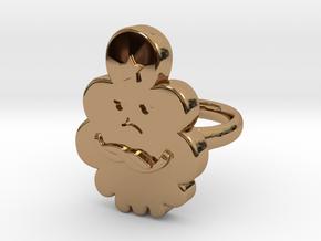 Lumpy Space Princess Ring (Medium)  in Polished Brass