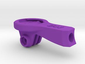 Garmin GoPro Easton ICM Mount - Short in Purple Processed Versatile Plastic