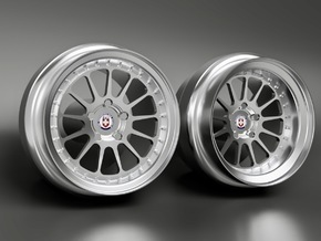1/64 scale HRE 303 8mm Dia - 4 sets in Smoothest Fine Detail Plastic