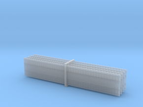 4 x Double Track - Straight 1/285 6mm in Smooth Fine Detail Plastic