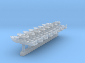 Yacht 01. 1:700 Scale in Smooth Fine Detail Plastic