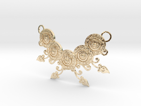 Ornamental Floral Necklace in 14K Yellow Gold
