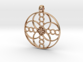 medalion basis 28-2 in 14k Rose Gold Plated Brass